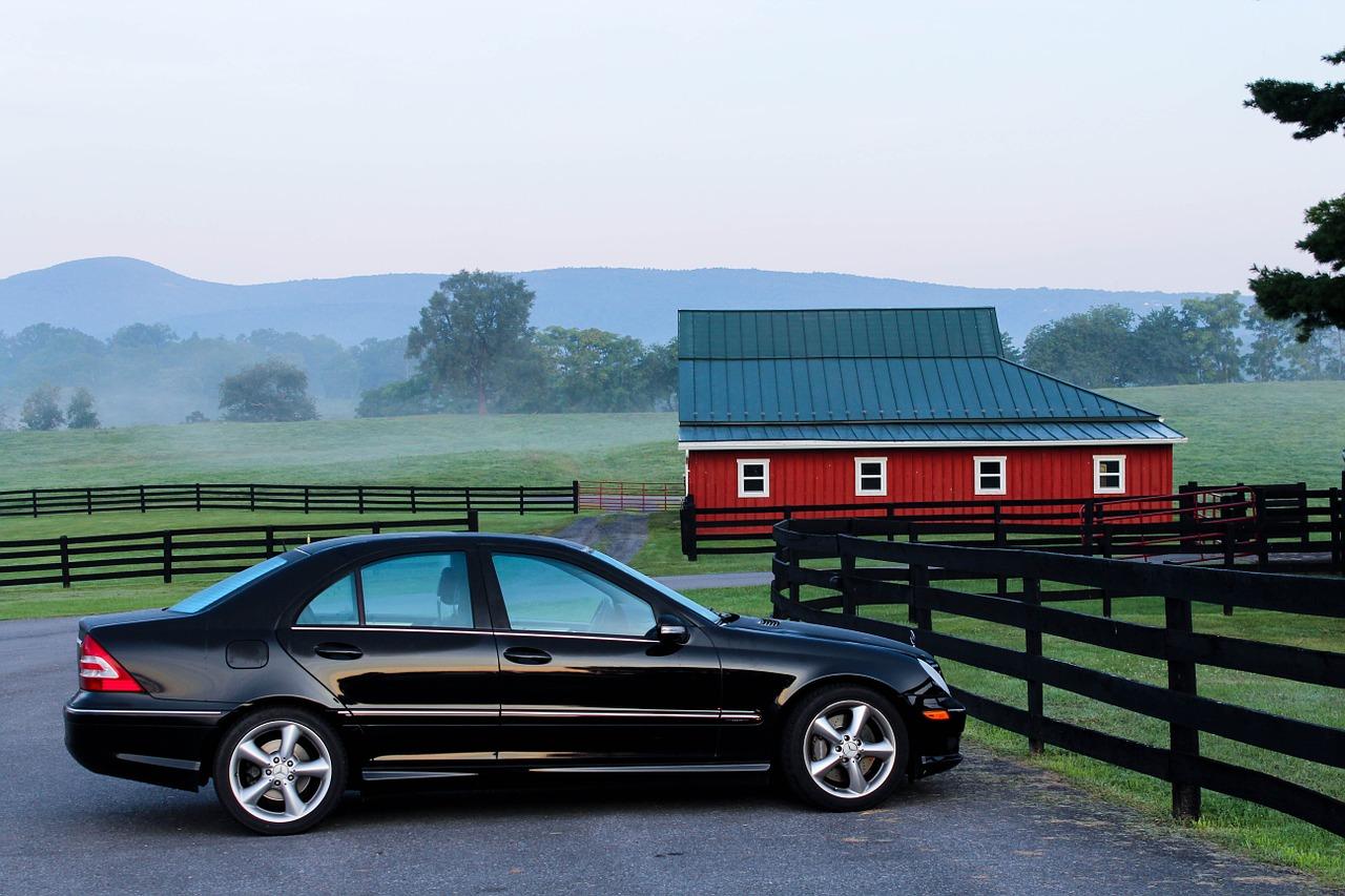 Automobile on Farm