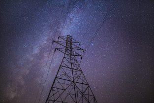 Powerline at Night