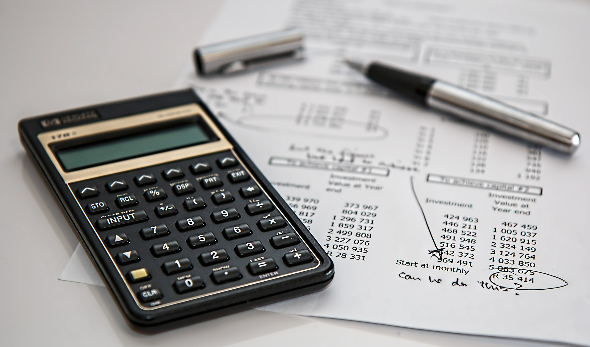 Calculator & Business Budget